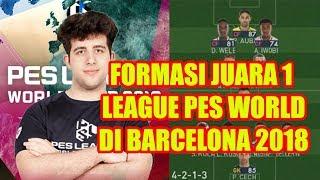 Rahasia Formasi ETTORITO (Juara Liga PES Dunia di Barcelona 2018)