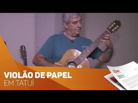 Violão de papel é sucesso em Tatuí - TV SOROCABA/SBT
