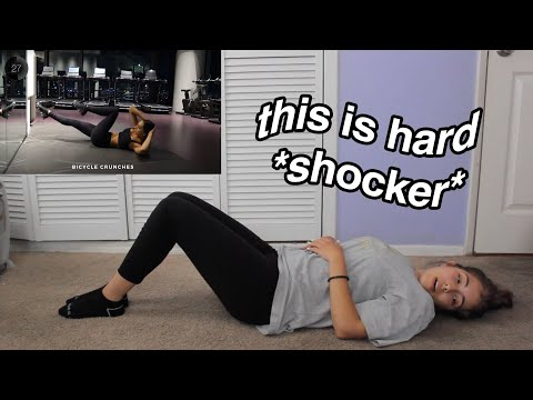 OUT OF SHAPE GIRL TRIES ALEXIS REN WORKOUT