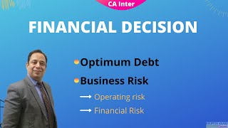 Business risk and financial risk in hindi | Financial management CA inter | Financial decision