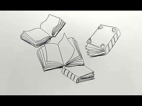 Cara Menggambar Buku Buku Dengan Mudah Youtube
