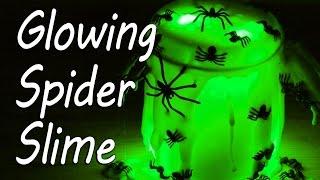 Glow in the Dark Spider Slime   Halloween