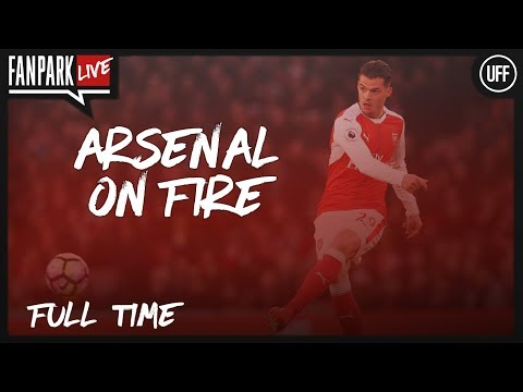 Arsenal 3 - 1 ac milan - full time phone in - fanpark live