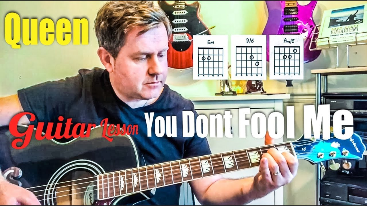 Queen You Don T Fool Me Acoustic Guitar Lesson Youtube