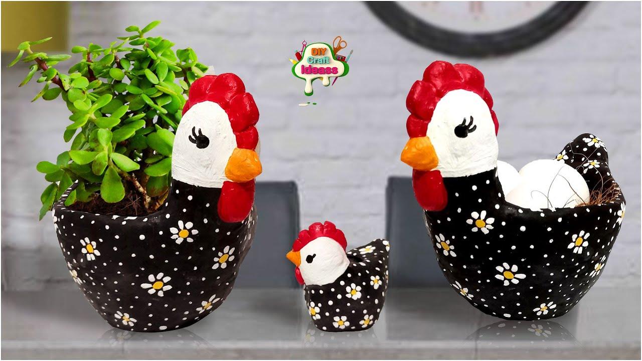 Chicken kitchen decor Chicken planter with plastic bottle Recycling Ideas |Amazing | arush crafts