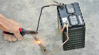 How to Make Welding Machine Using 12 Volt battery (very easy)