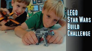 Star Wars Lego Build Challenge and BATTLE - SuperTwins TV