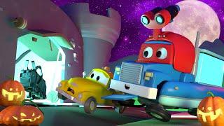 El MONSTRUO de la FERIA DE DIVERSIONES ! Carl el Super Camión en Auto City | HALLOWEEN para niños thumbnail