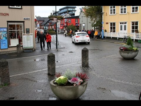 Downtown to harbor walk, Reykjavik Iceland