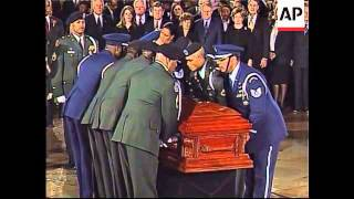 Ceremony for lying in state of civil rights pioneer Rosa Parks