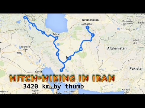 Hitchhiking in Iran compilation