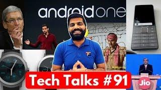 Tech Talks #91 Reliance Jio VoLTE 999Rs Phone, Idea no Idea, Android One US, Dynamic 3D Print