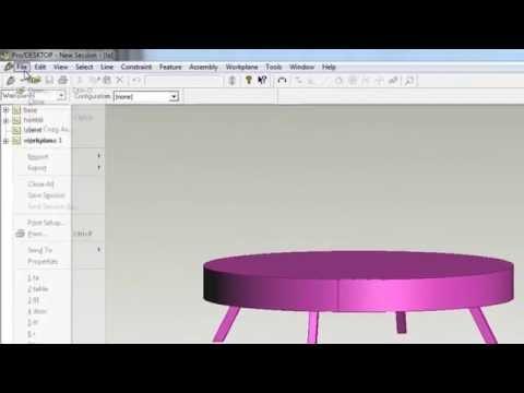 บทที่ 3 การสร้างชิ้นงานลักษณะรูปโต๊ะ ด้วยโปรแกรม ProDesktop (10/12)
