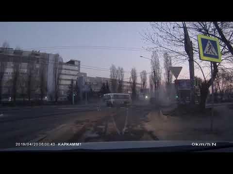 Момент ДТП Воронеж 20.04.19