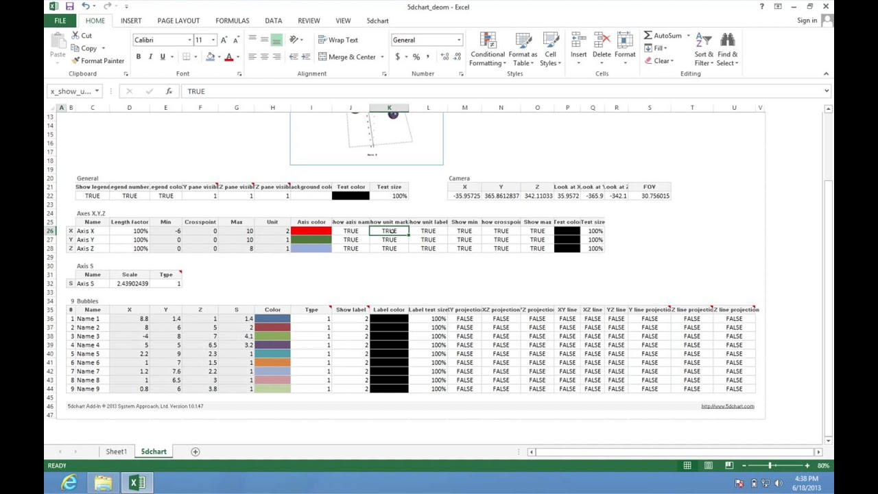 Bubble Diagram Template For Excel Prs Wiring Creating 3d Chart In Using 5dchart Add