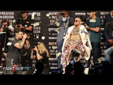 "Thumbnail: FLOYD MAYWEATHER MAKES IT RAIN ON CONOR MCGREGOR! MCGREGOR SAYS ""ITS ONLY DOLLA BILLS!?"""