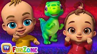 Chubby Cheeks   Baby Songs & Dinosaur Rhymes for Kids   ChuChu TV Funzone 3D Nursery Rhymes