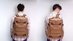 e7b2b8b33f ZUO LUN DUO กระเป๋าเป้ กระเป๋าเดินทาง Canvas Outdoor Travel Backpack รุ่น  8831 - Duration  0 46.