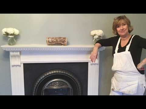 How To Paint A Wooden Fireplace Surround