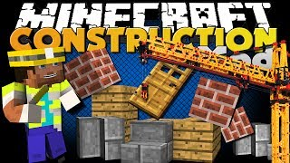 Repeat youtube video Minecraft Mod - Construction Mod - Build Houses Faster
