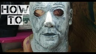How To Make Michael Myers Real Mask From Latex\horror  With Michael Myers\behind The Scenes