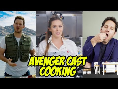 AVENGERS INFINITY WAR Cast Cooking - Best Kitchen Videos of Marvel Cast