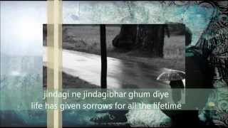 - Zindagi Ne Zindagibhar (The Train) With Lyrics translated by HAMMAD-UR-REHMAN