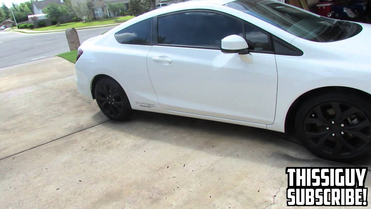 Black Honda Accord Rims >> 2012 Civic Si How to Plast-Dip your wheels - YouTube