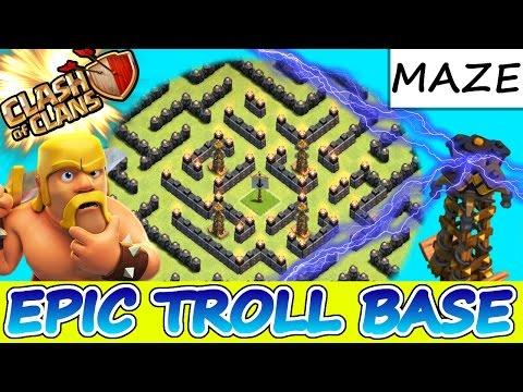 Clash Of Clans | EPIC TROLL BASE!