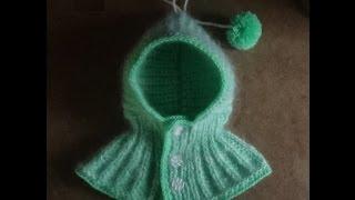 Шапка-капюшон ( вязание спицами). Вариант 1