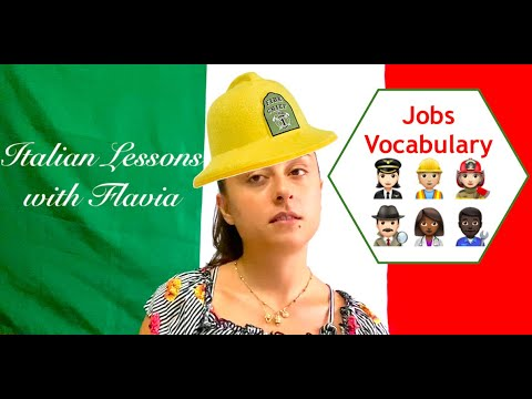 🇮🇹Build Your Italian Vocabulary - Jobs🇮🇹