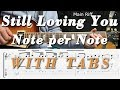 Still loving you, Scorpions, Guitar Lesson, Tutorial, COMPLETE, TAB, How to play, SOLO, LICKS