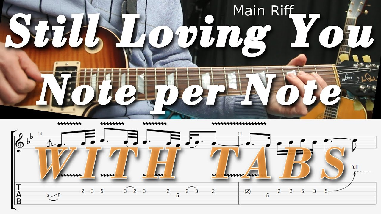 Still Loving You Scorpions Guitar Lesson Tutorial Complete Tab