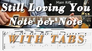 Download Still loving you, Scorpions, Guitar Lesson, Tutorial, COMPLETE, TAB, How to play, SOLO, LICKS