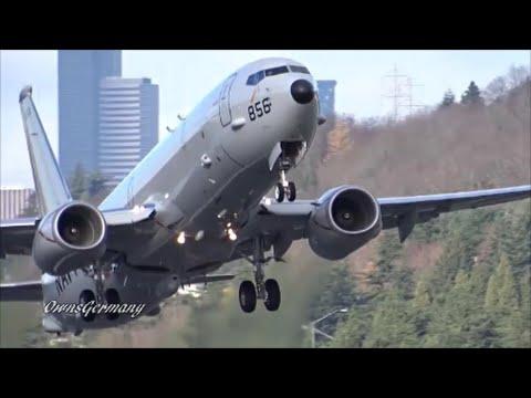 Double Boeing P-8 Poseidon Test Flight Departures @ KBFI Boeing Field