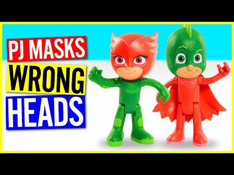 Wrong Heads For Kids - Funny PJ Masks Wrong Heads Video!
