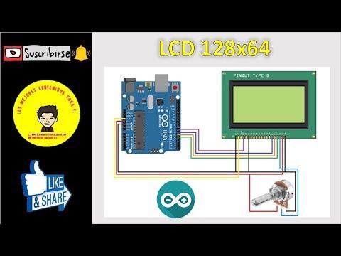 Repeat LCD 128x64 con Arduino MEGA - Conexión y Librería