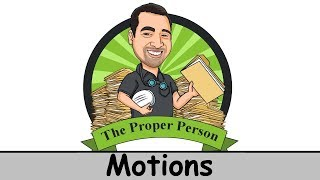 Legal Nuts And Bolts: Motions