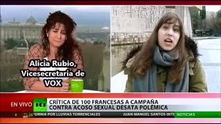 Nuestra vicesecretaria Alicia Rubio deja en ridículo a una activista de Femen