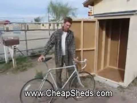 Compact Vertical Bike Shed - CheapSheds.com