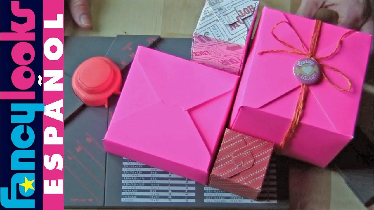 Troqueladora cajitas de regalo youtube - Papel de regalo transparente ...