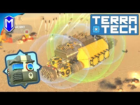 TerraTech - Trying Out New Weapons For Our Hovercraft - Let's Play/Gameplay