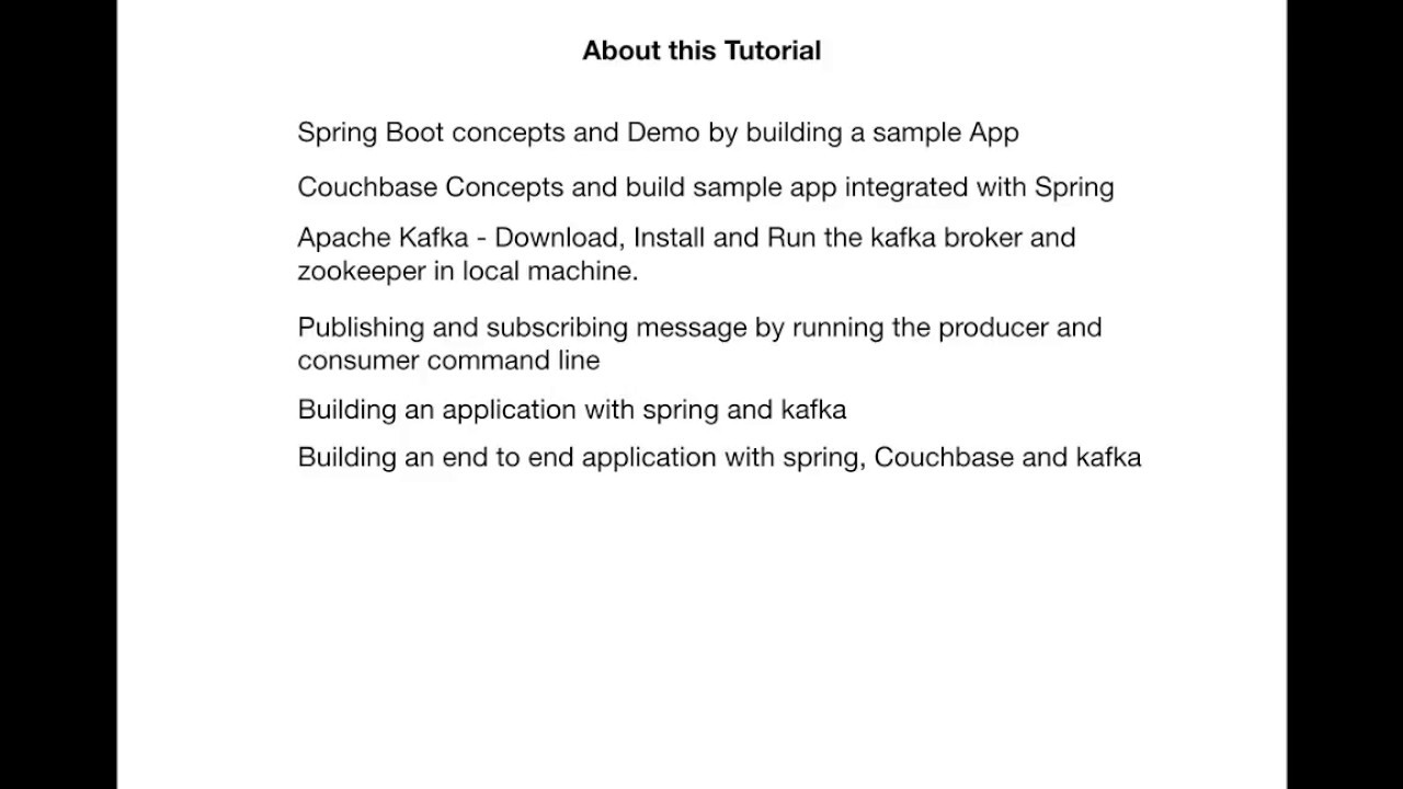Intro of Spring Boot Couchbase Kafka