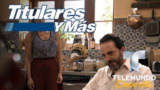 Gloria Peralta y Antonio de la Vega visitan Titulares y Más   Titulares y Más   Telemundo Deportes