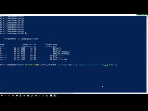 check if file exists with Powershell