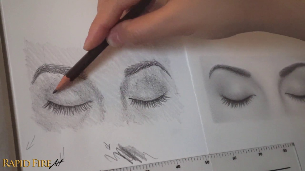 How to draw closed eyes beginner friendly