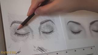 How to Draw Closed Eyes - Beginner Friendly
