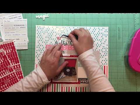 Scrapbook Process #455 Retro Ho Ho Ho