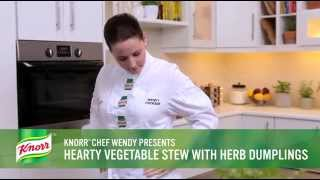 Hearty Vegetable Stew With Herb Dumplings Recipe