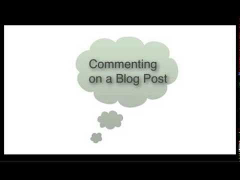 How to Add a Comment to an Edublog